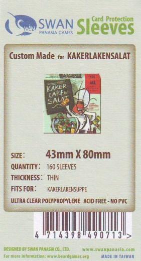 Kartenhüllen, 43mm x 80mm, 160 Hüllen, dünn