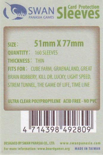 Kartenhüllen, 51mm x 77mm, 160 Hüllen, dünn
