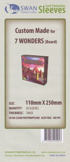 Kartenhüllen, 110mm x 250mm, 20 Hüllen, Premium