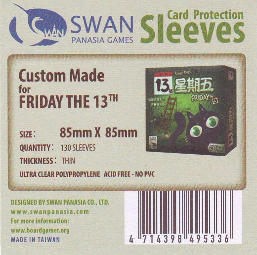 Swan card protection sleeves 85mm x 85mm, 130 pcs thin