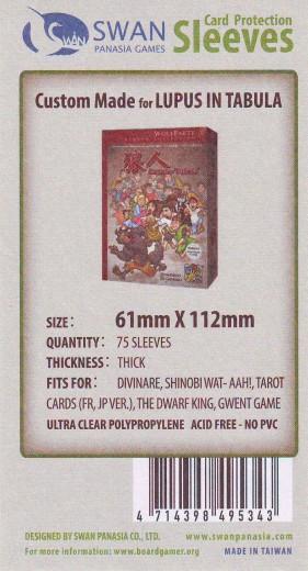 Kartenhüllen, 61mm x 112mm, 75 Hüllen, Premium