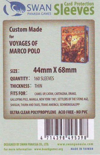 Kartenhüllen, 44mm x 68mm, 160 Hüllen, dünn