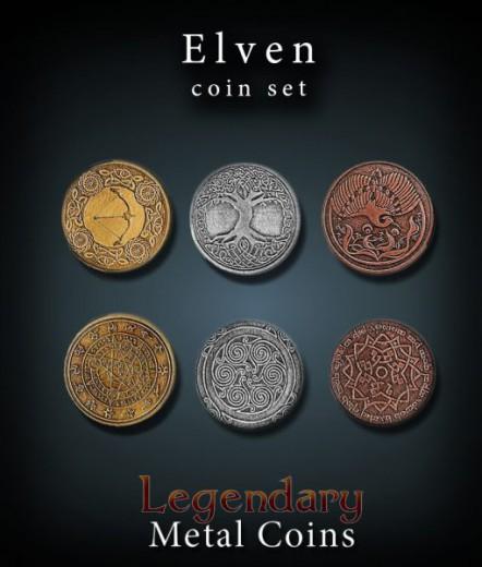 Legendary Metall Münzen Set Elfen