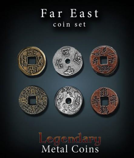 Legendary Metall Münzen Set Ferner Osten
