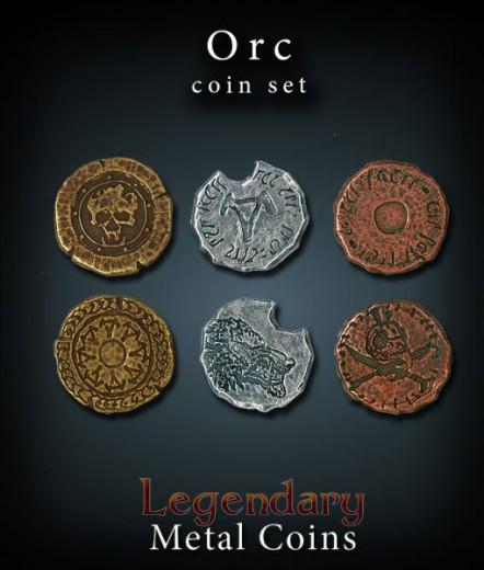 Legendary Metall Münzen Set Orks