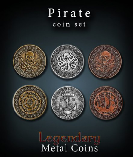 Legendary Metal Coins: Pirate Set
