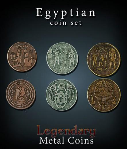 Legendary Metall Münzen Set Ägypten
