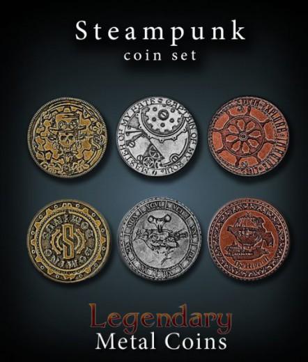 Legendary Metall Münzen Set Steampunk