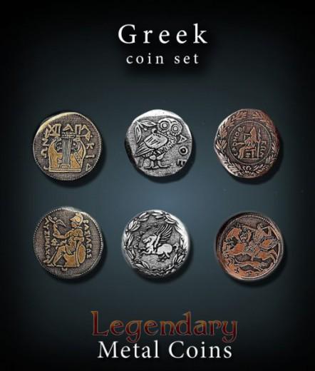 Legendary Metall Münzen Set Griechenland