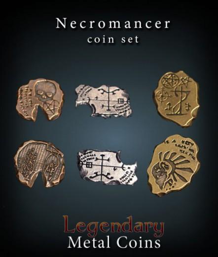 Legendary Metall Münzen Set Nekromant