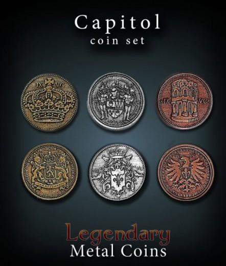 Legendary Metall Münzen Set Capitol