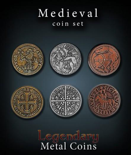 Legendary Metall Münzen Set Mittelalter