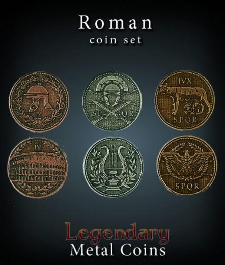 Legendary Metall Münzen Set Rom