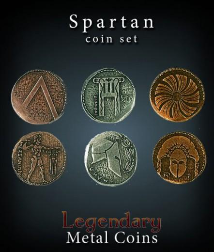 Legendary Metall Münzen Set Sparta