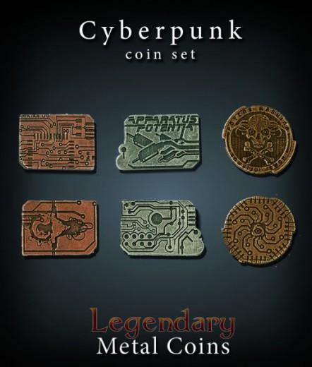Legendary Metall Münzen Set Cyberpunk