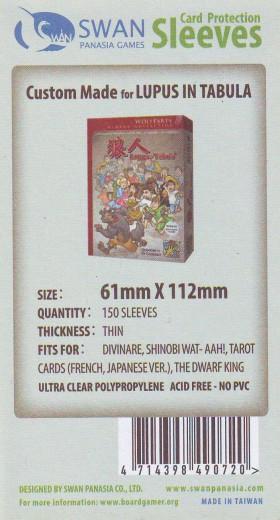 Kartenhüllen, 61mm x 112mm, 150 Hüllen, dünn