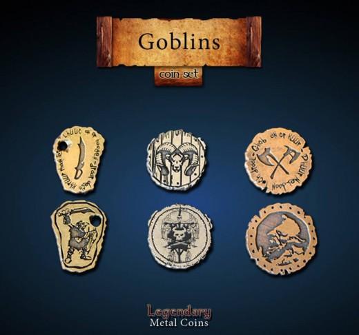 Legendary Metall Münzen Set Goblins