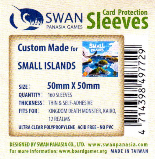 Swan card protection sleeves 50mm x 50mm, 160 pcs thin