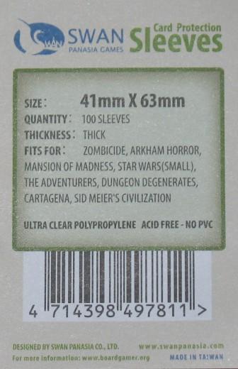 Kartenhüllen, 41mm x 63mm, 100 Hüllen, Premium
