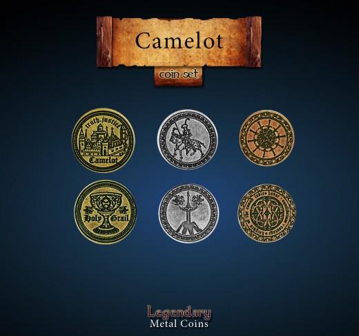 Legendary Metall Münzen Set Camelot