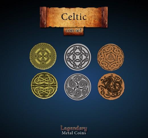 Legendary Metall Münzen Set Kelten
