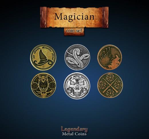 Legendary Metal Coins: Magician Set