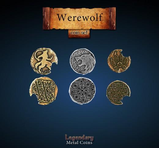 Legendary Metall Münzen Set Werwolf