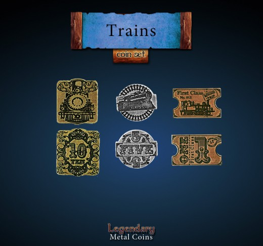 Legendary Metall Münzen Set Train Units