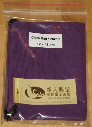 Stoffbeutel 12x18 cm violett