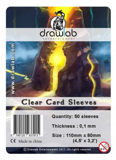 Drawlab Kartenhüllen, 80mm x 110mm, 50 Hüllen, Premium
