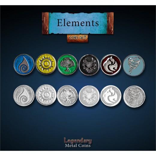 Legendary Metall Münzen Elemente Set