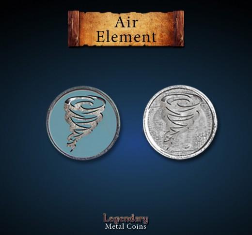 Legendary Metall Münzen Air Element Set