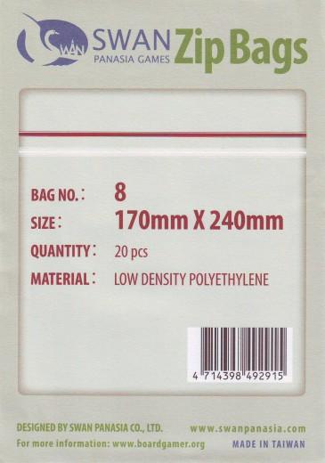 Zip-Tüte 170x240 mm, 20 Stück
