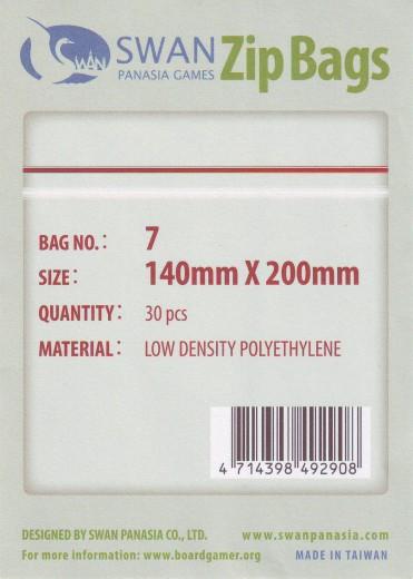 Zip-Tüte 140x200 mm, 30 Stück