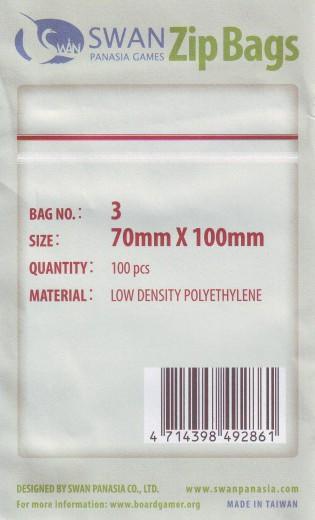 Zip lock bag 70x100 mm, 100 pieces
