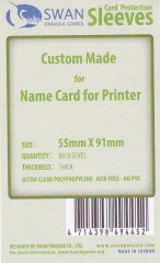 Swan card protection sleeves 55mm x 91mm, 80 pcs thick