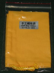 cloth bag 12x18 cm yellow