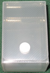 card box XS for small cards, clear plastic