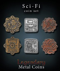 Legendary Metal Coins: Sci-Fi Set
