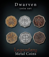 Legendary Metal Coins: Dwarves Set