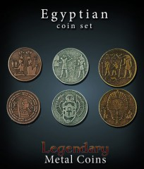 Legendary Metal Coins: Egyptian Set