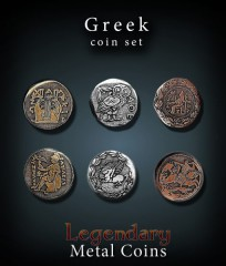 Legendary Metal Coins: Greek Set