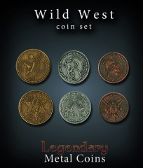 Legendary Metall Münzen Set Wilder Westen