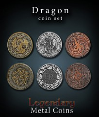 Legendary Metal Coins: Dragon Set