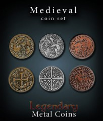 Legendary Metal Coins: Medieval Set