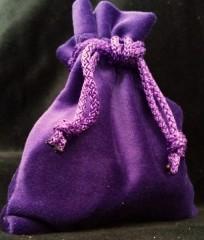 Samt Beutel violett