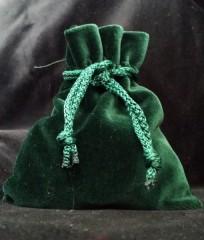 Samt Beutel grün