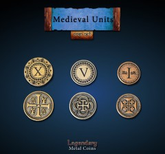Legendary Metall Münzen Set Mittelalter Units