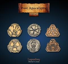 Legendary Metall Münzen Set Post Apokalypse