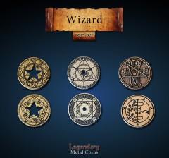 Legendary Metall Münzen Set Zauberer